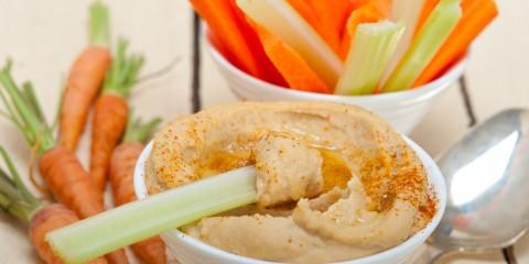 carrots-celery-hummus