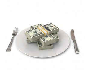 money-on-a-plate