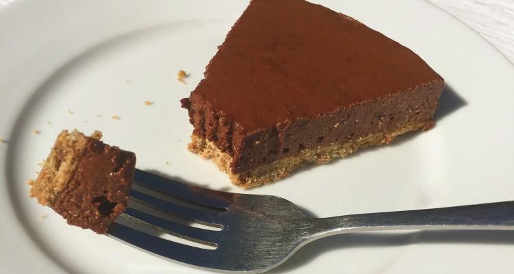 Choc orange cheesecake slice (2)